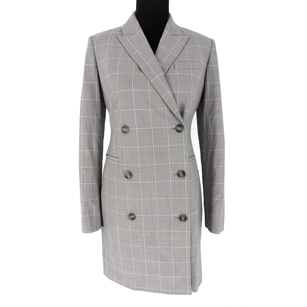 Theory Cyrus Grid Blazer Dress