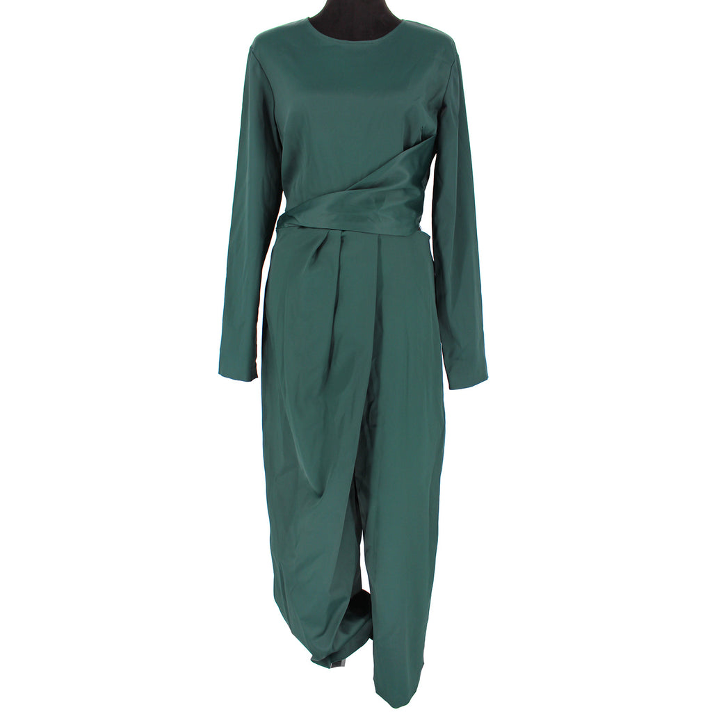 Sies Marjan Green Silk Jumpsuit