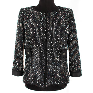 Carolina Herrera Metallic Tweed Blazer
