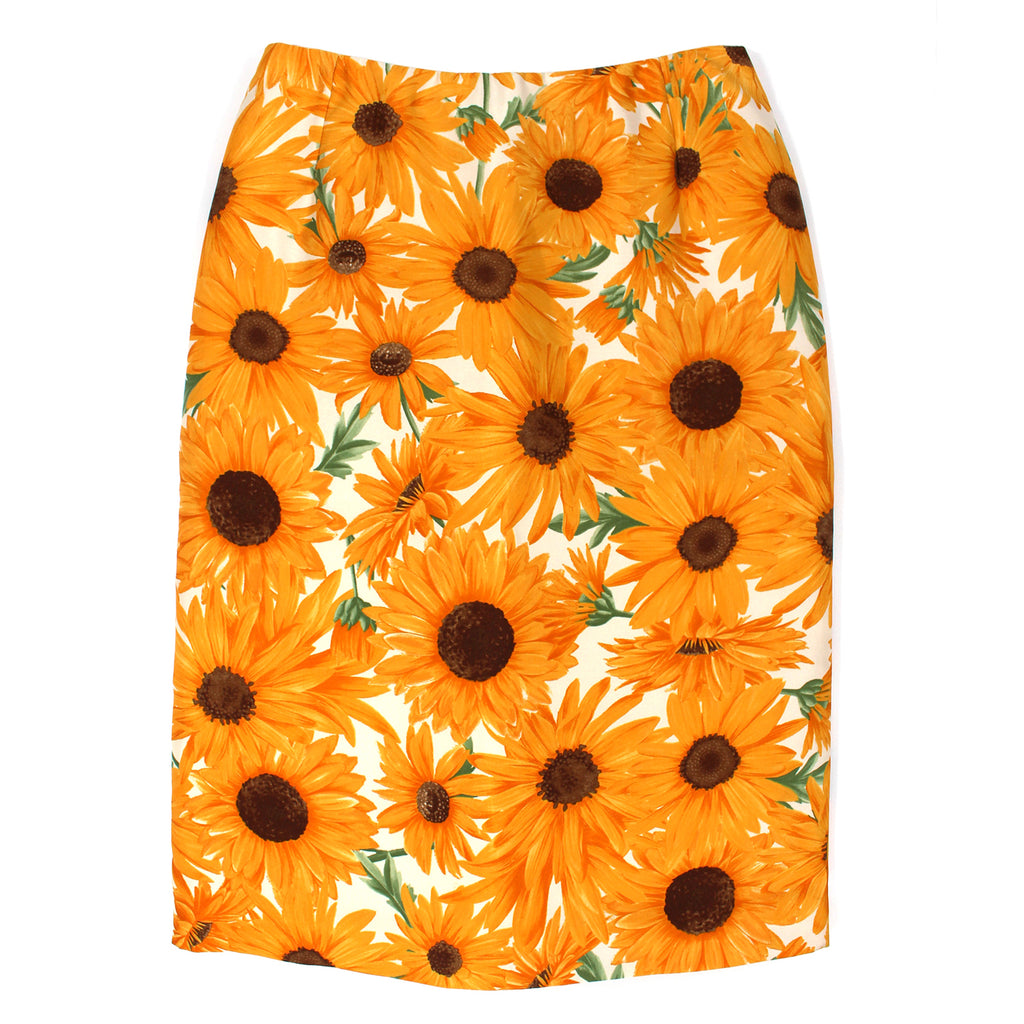 Dolce & Gabbana Sunflower Pencil Skirt