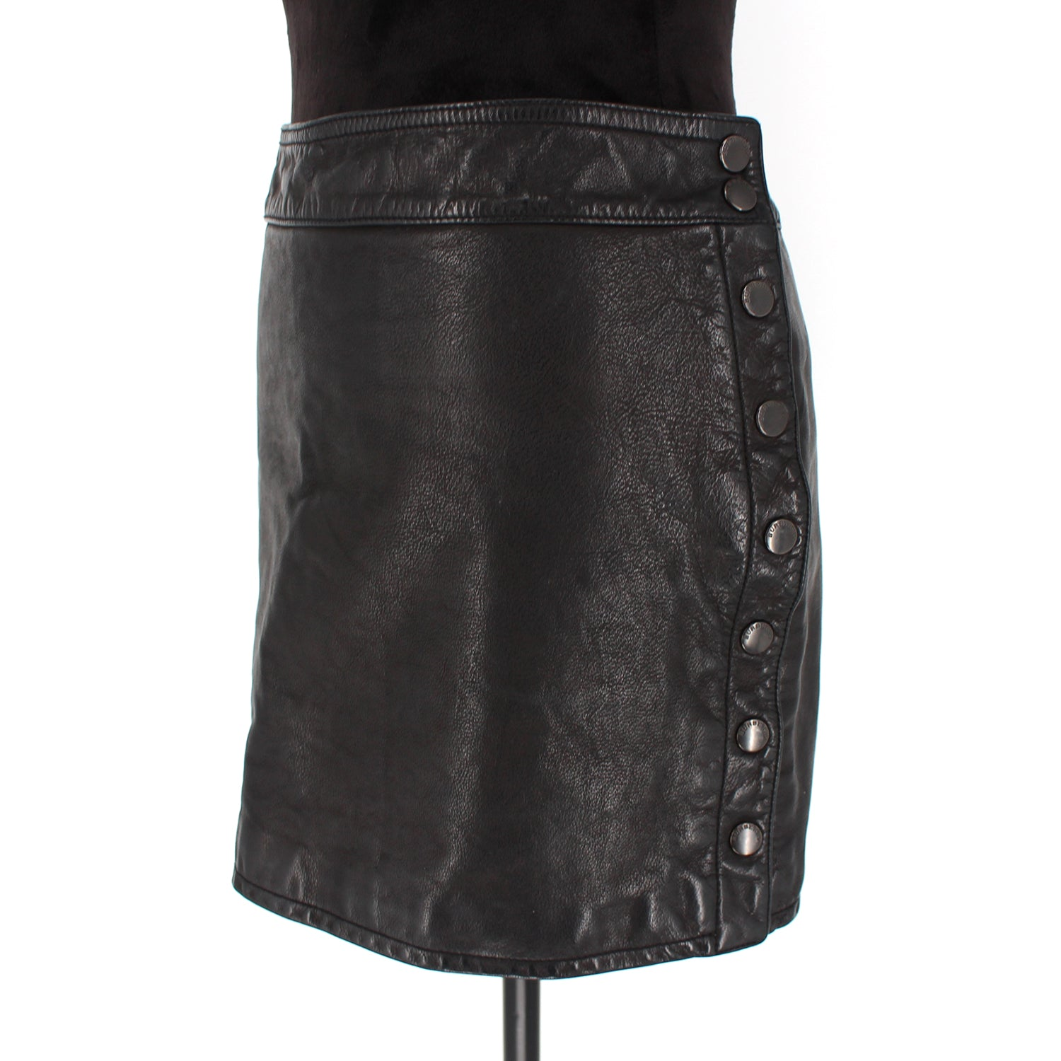 Burberry Leather Mini Skirt