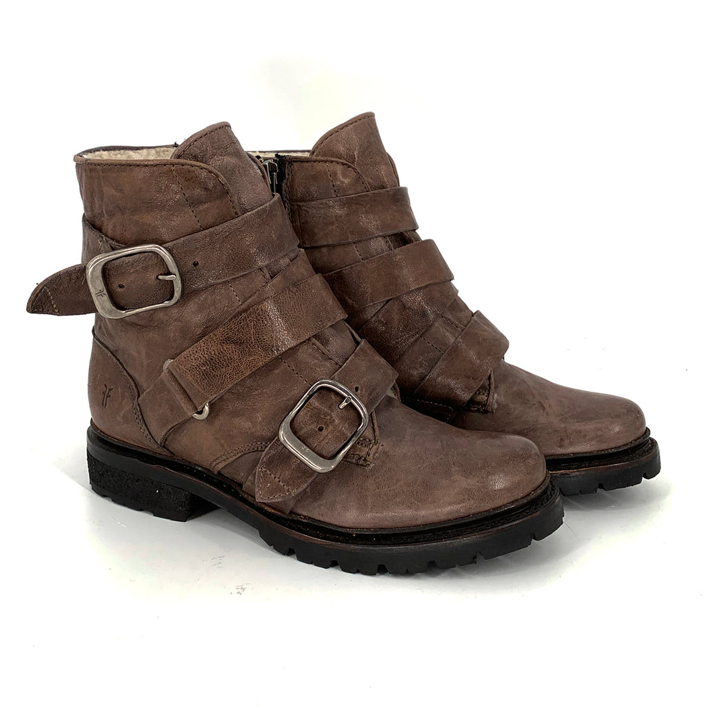 Frye Leather Shearling Boots