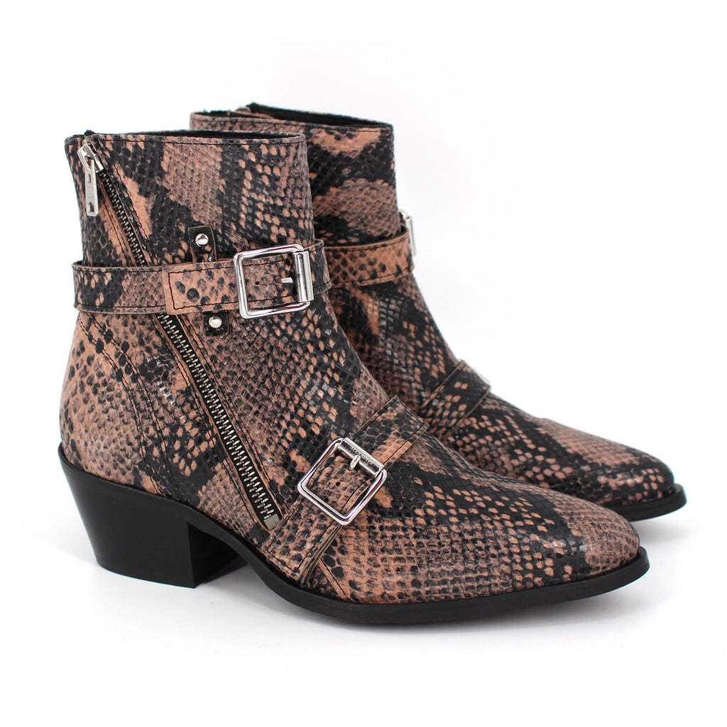 All Saints Snakeskin Lior Boots