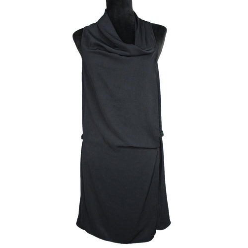Helmut Lang Leather Strap Dress (Black)