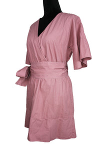 Dusty Pink Belted Dress