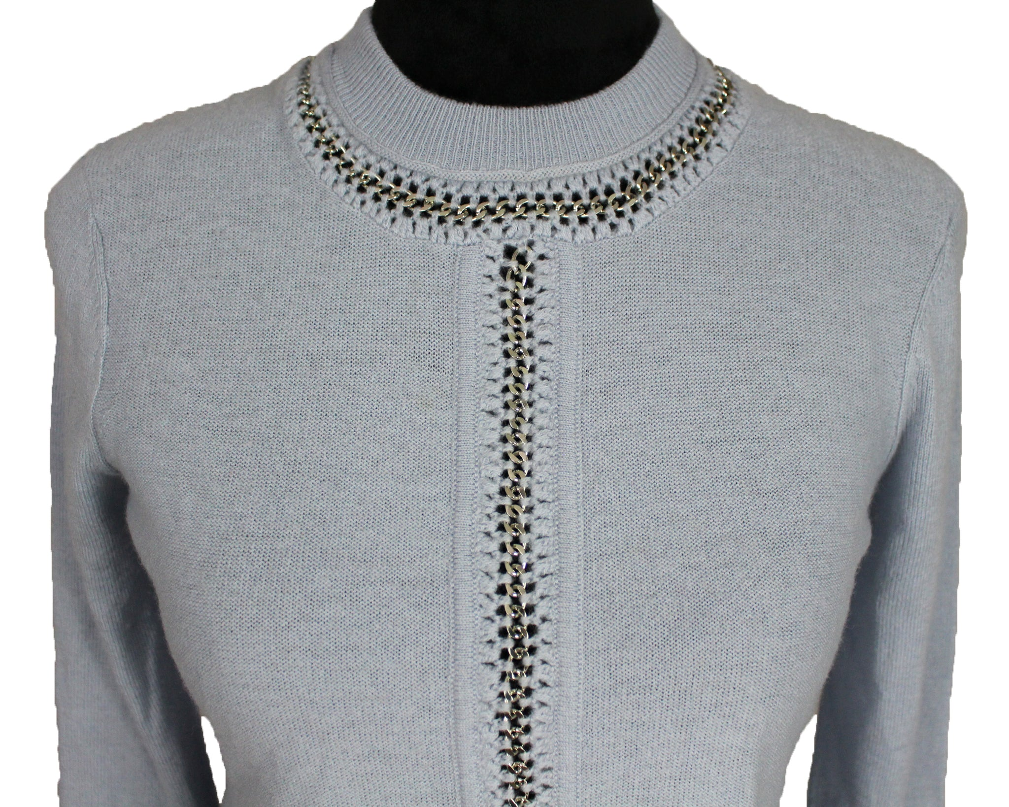 Crop Chain Pullover Sweater
