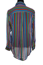 Load image into Gallery viewer, Multicolor Stripe Silk Top