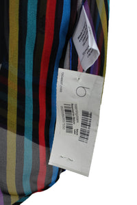 Multicolor Stripe Silk Top