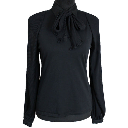 Anne Fontaine Bow Rosca Blouse (Black)