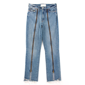 Mother The Rascal Zip Step Jeans