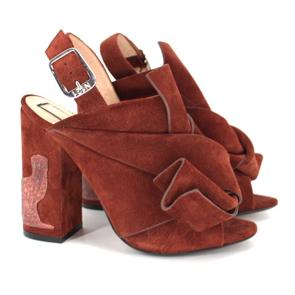 No.21 Suede Block Sandals