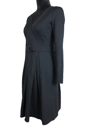 Akris Belted Pleated Dress