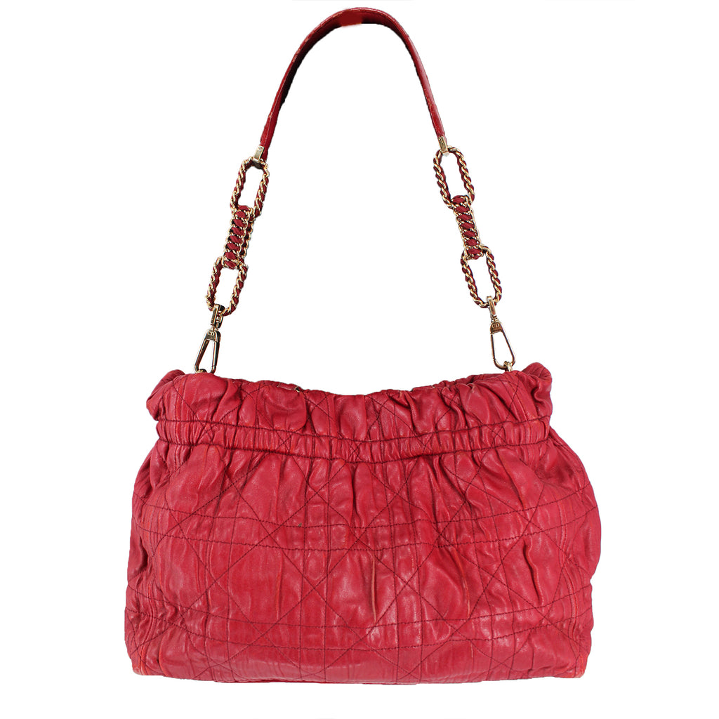 Dior Red Cannage Gaufre Tote