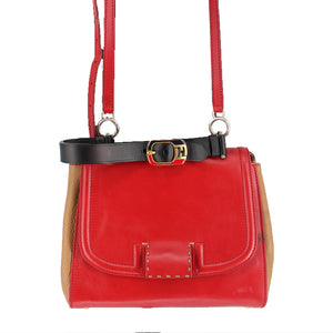 Fendi Silvana Leather Handbag