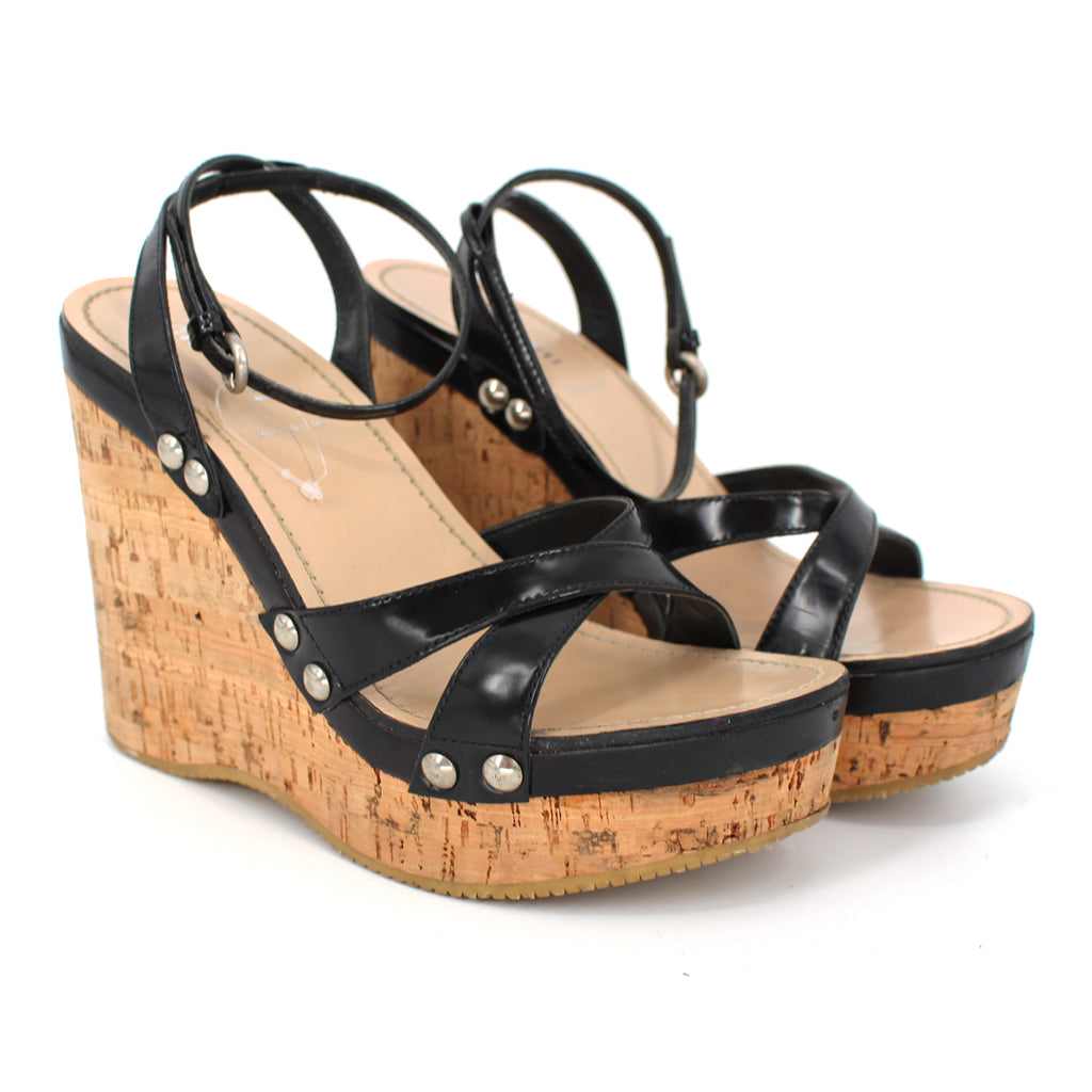Miu Miu Strappy Cork Wedge Sandals