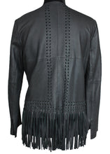 Load image into Gallery viewer, Garvin Leather Fringe Jacket