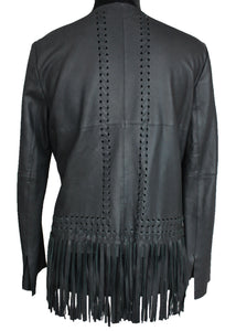 Garvin Leather Fringe Jacket