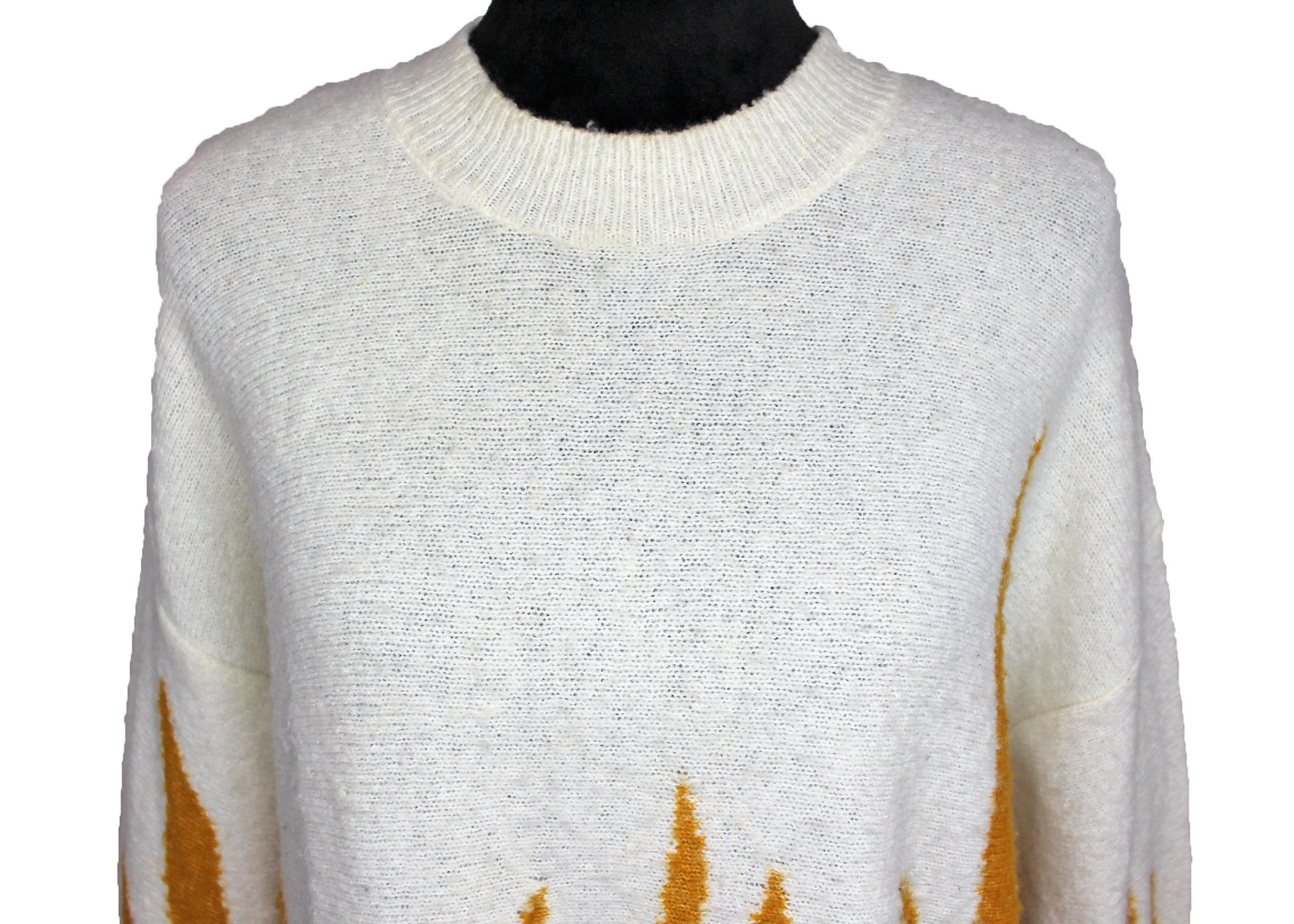 Wildfox Fire Hex Flames Sweater