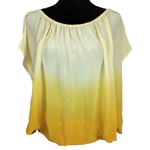 Joie Caro Dip Dye Blouse (Yellow)