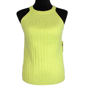 Anthropologie Yellow Ribbed Sweater Tank