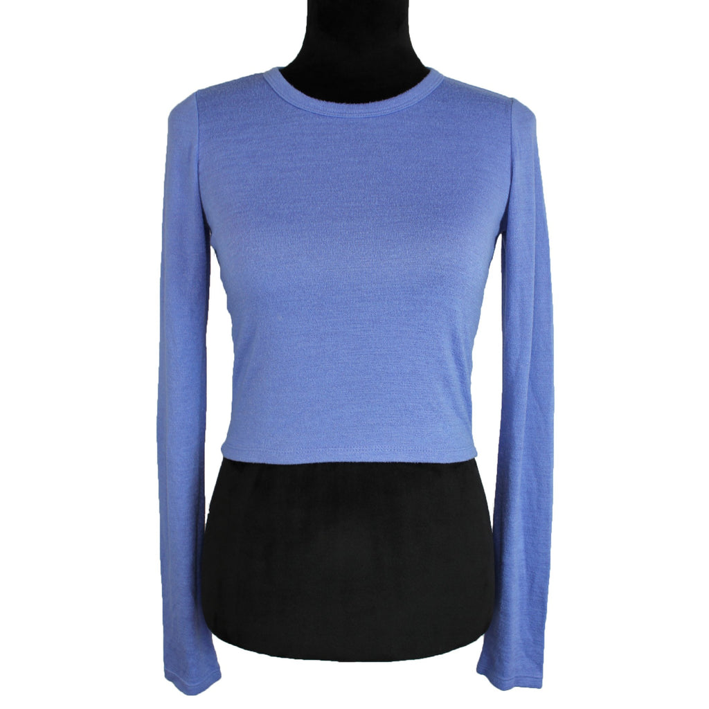 Wilfred Free Cropped Long Sleeve Top (Blue)