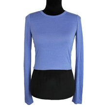Load image into Gallery viewer, Wilfred Free Cropped Long Sleeve Top (Blue)