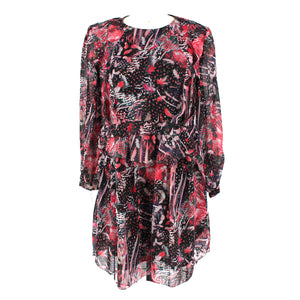 IRO Barich Ruffle Silk Dress