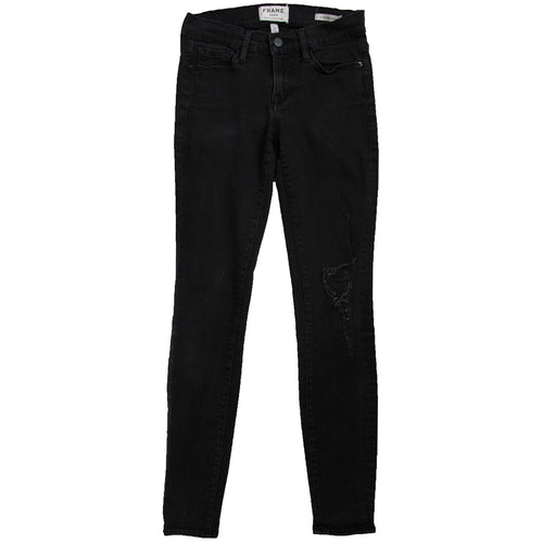 Frame Denim Le Skinny Satine Jeans (Black)