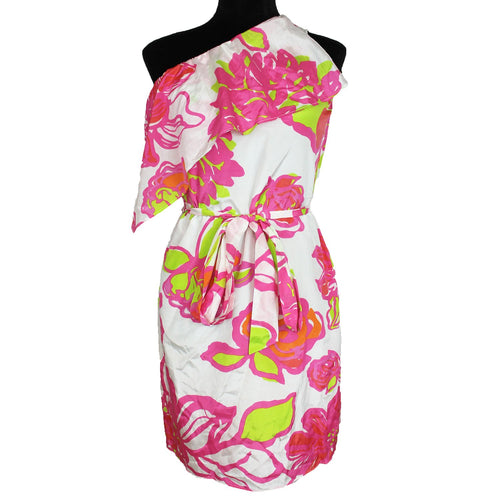 Lilly Pulitzer Kendall Dress - You Cant Contain Me (White/Pink)