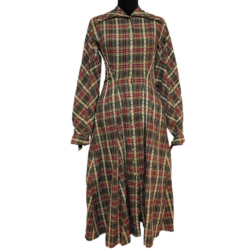 Vintage Byron Lars Tartan Plaid Dress (Red/Green)