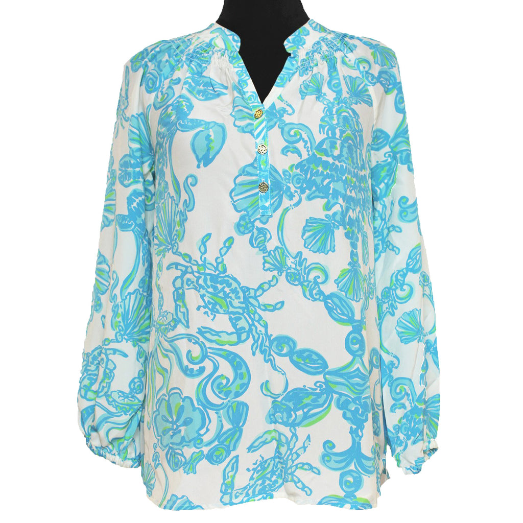 "Lilly Pulitzer ""In A Pinch"" Elsa Blouse"