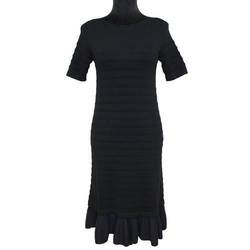 Tory Burch Giselle Textured Dress (Black/Navy)