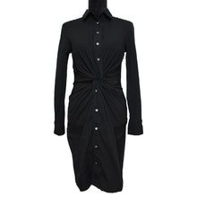Load image into Gallery viewer, Michael Kors Collection Twist Shirt Dress (Black)