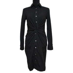 Michael Kors Collection Twist Shirt Dress (Black)