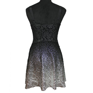 Lace Ombre Foil Dress