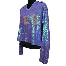 "Load image into Gallery viewer, Celebration Billie Sequin ""YES"" Hoodie"