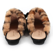 Load image into Gallery viewer, Jocelyn Faux Fur Leopard Slippers