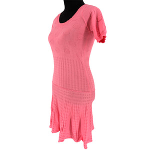 Bubble-Knit Jacquard Dress