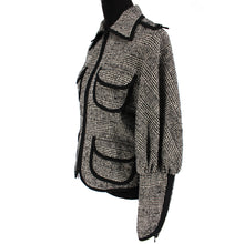 Load image into Gallery viewer, Angelina Plaid Lace Back Jacket