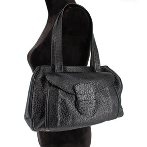 Textured Leather Bag w/ Front Pocket