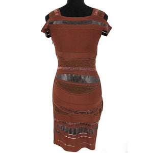 Hervé Leger Leather Bandage Dress