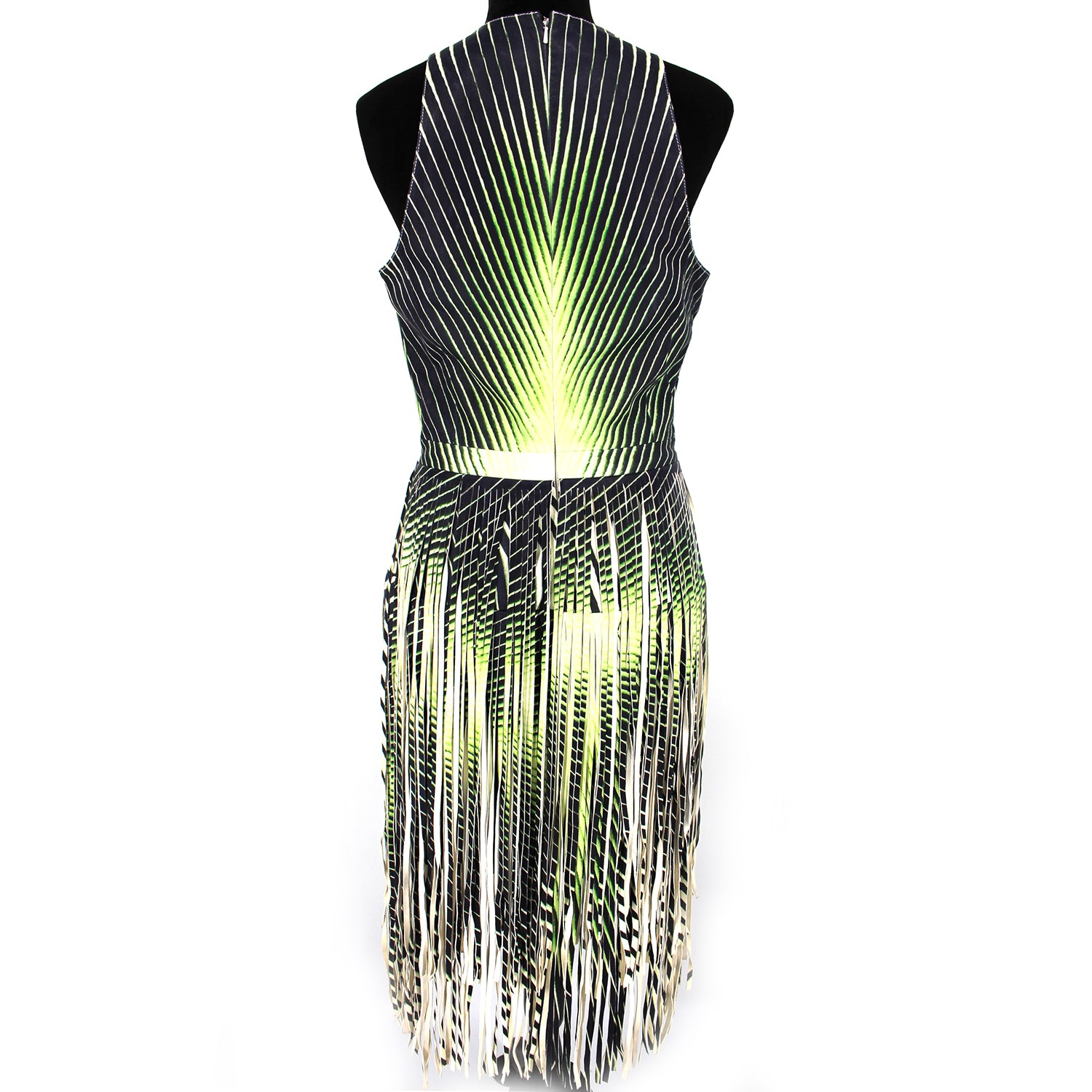 Tamara Mellon Lambskin Fringe Dress