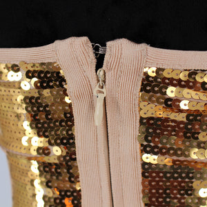 Katherine Gold Sequin Dress