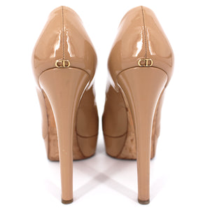 Miss Dior Patent Peep Toe Pumps