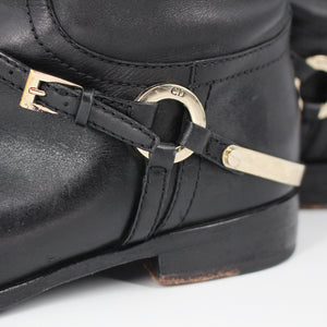 Etrier Leather Buckle Riding Boots
