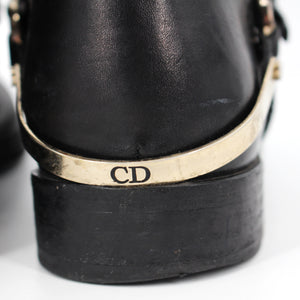 Dior Etrier Leather Buckle Riding Boots