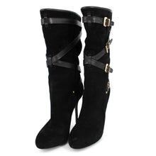 Load image into Gallery viewer, Dior Black Cavalier Low Suede Buckle Boots With Box 38