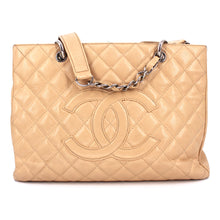 Load image into Gallery viewer, Chanel Beige Caviar Leather Grand Shopping Tote
