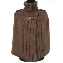 Load image into Gallery viewer, Gucci Camel Hair Turtleneck Poncho Knit Buckle Sweater Size M