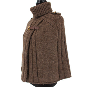 Camel Hair Turtleneck Poncho